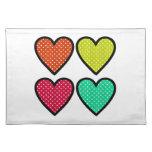 Hearts - Multi Colors Placemats