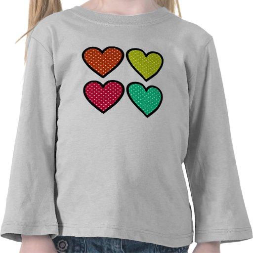Hearts - Multi Colors Tee Shirt
