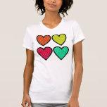 Hearts - Multi Colors Tee Shirts