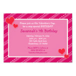 Hearts n Dashes Valentines Day Birthday Invitation