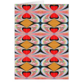 Hearts n Diamonds Enjoy n Share Joy Greeting Card