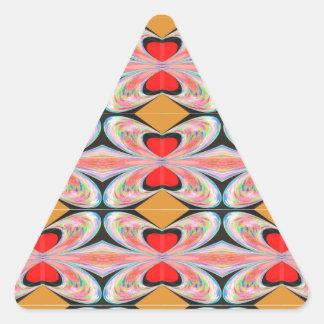 Hearts n Diamonds : Enjoy n Share Joy Triangle Sticker