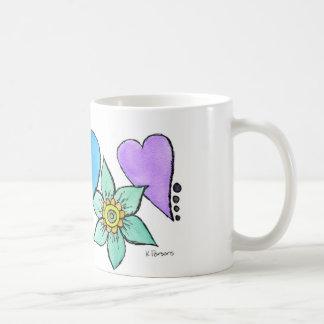 Hearts-n-Flowers Classic White Coffee Mug