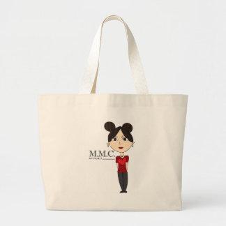 Hearts n' Stripes M.M.C. Love Design Large Tote Bag