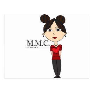 Hearts n' Stripes M.M.C. Love Design Postcard