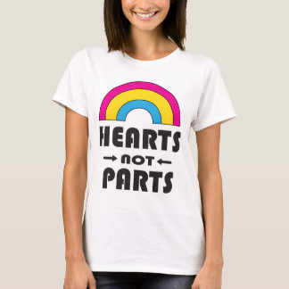 Hearts Not Parts Pansexual LGBT Pride T-Shirt