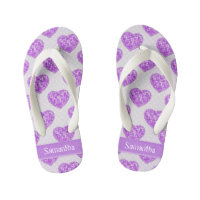 ecb4cc8aa66039 Women s Sandals   Flip Flops. Hearts of Amethyst Tiles Offset Rows  Personalized