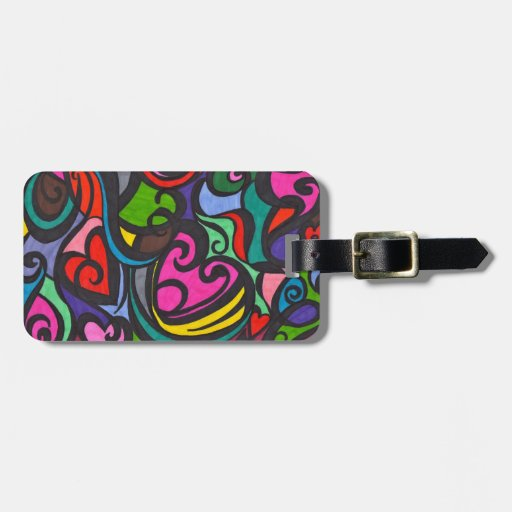 Hearts of color LUGGAGE TAGS