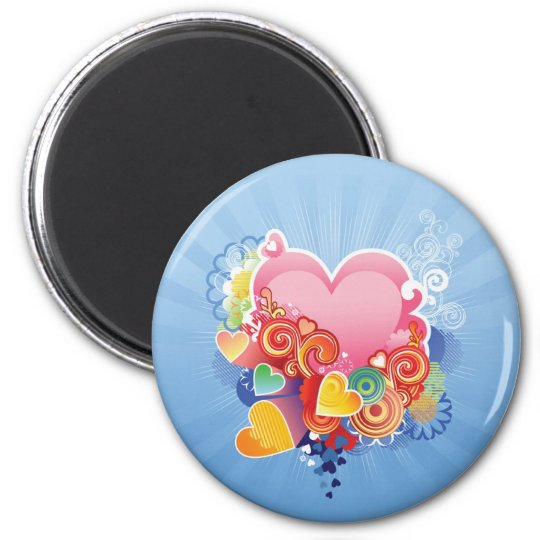 Hearts of Color Magnet