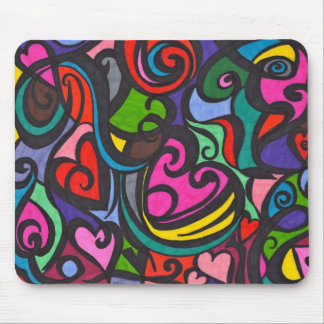 Hearts of color  Mouse pad