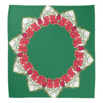 Hearts of Gladiola Flowers Floral Bandana