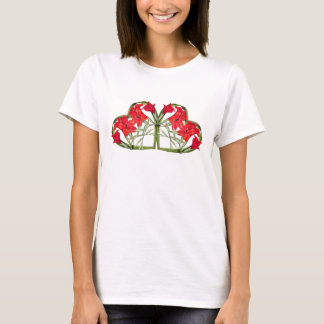 Hearts of Gladiolas Flowers Floral Botanical Top