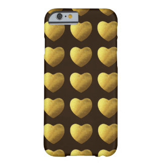 Hearts of gold pattern barely there iPhone 6 case