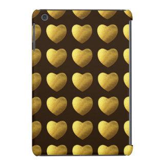 Hearts of gold pattern iPad mini retina case
