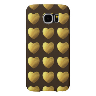 Hearts of gold pattern samsung galaxy s6 case