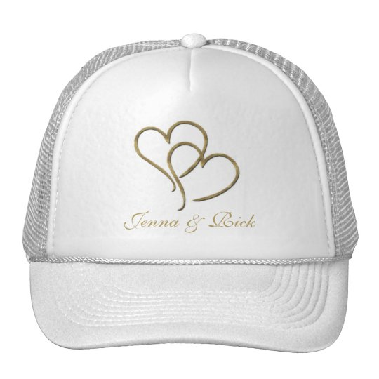 Hearts of gold trucker hat