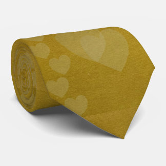Hearts of Gold Wedding Necktie