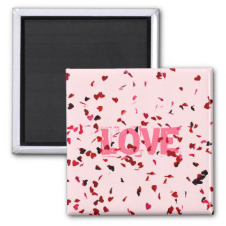 Hearts Of Love 2 Inch Square Magnet