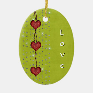 Hearts of Love - Christmas Ornament