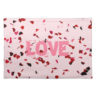 Hearts Of Love Cloth Placemat