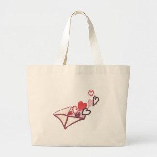 Hearts of Love Envelope Large Tote Bag
