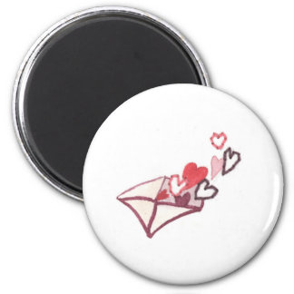 Hearts of Love Envelope Magnet