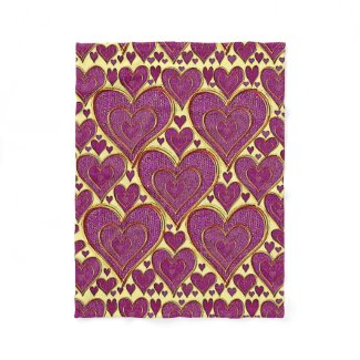 Hearts Of Love Fleece Blanket