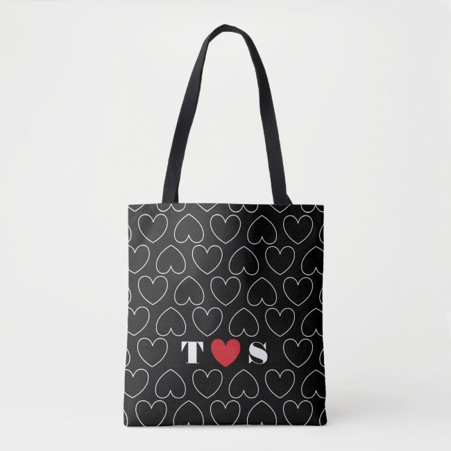 Hearts of Love Pattern with Couples Initials