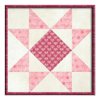 Hearts of Love Quilt Personalized Invites