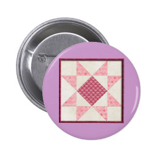 Hearts of Love Quilt Pinback Button