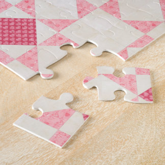 Hearts of Love Star Patch Quilt Block Puzzle