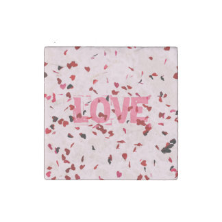 Hearts Of Love Stone Magnet