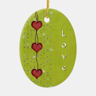 Hearts of Love - Valentine Ornament
