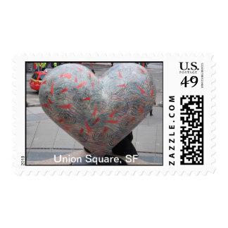 Hearts of San Fracisco- Union Square! Postage