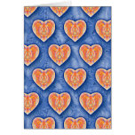 Hearts on Blue Card