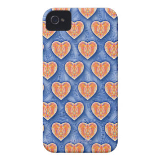 Hearts on Blue iPhone 4/4S Case iPhone 4 Covers