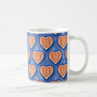 Hearts on Blue Mug