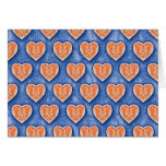 Hearts on Blue Notecard Greeting Cards