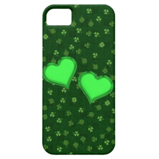 Hearts on Celtic and Clover iPhone 5 Case