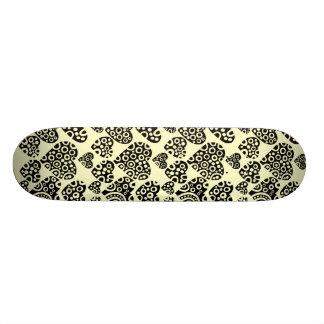 Hearts on Cream Skateboard Deck