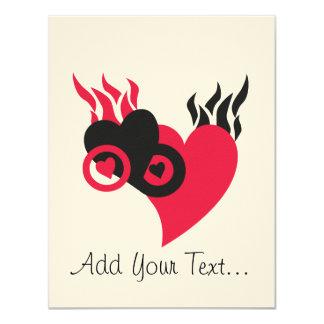 Hearts on Fire 4.25x5.5 Paper Invitation Card