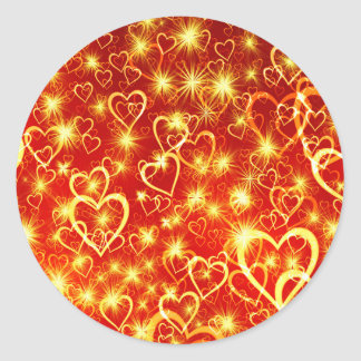Hearts On Fire Classic Round Sticker