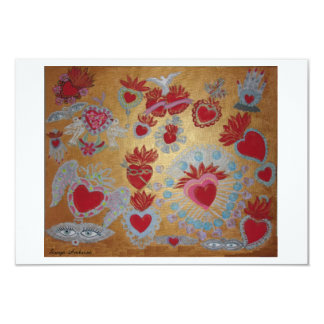 Hearts on Fire Invitation Card by Sonya Ambrose