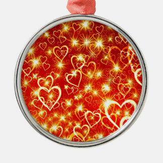 Hearts On Fire Metal Ornament