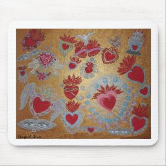 Hearts on Fire Mousepad by Sonya Ambrose