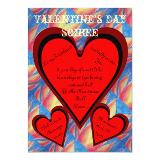 Hearts on Fire Romantic Valentines Day Card
