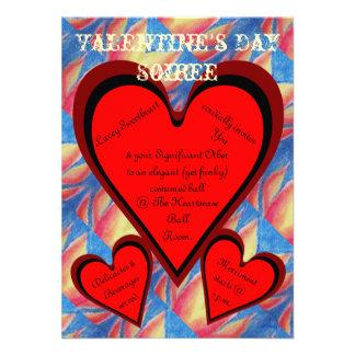 Hearts on Fire Romantic Valentines Day Custom Invitations