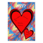 Hearts on Fire Romantic Valentines Day RSVP Card