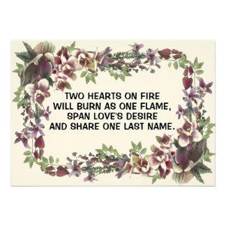 Hearts On Fire Wedding Invitations