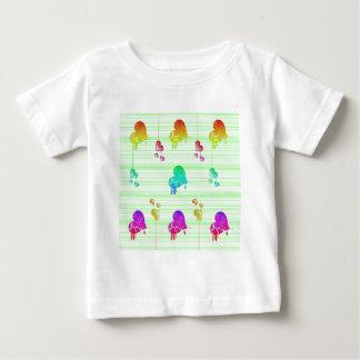 Hearts on  green lines tee shirt
